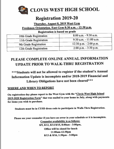 Registration Info