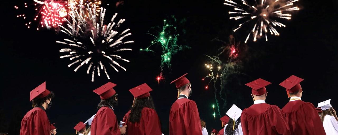 2021 Grad Ceremony Fireworks